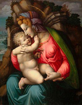 Madonna mit Kind in einer Landschaft, Bachiacca
