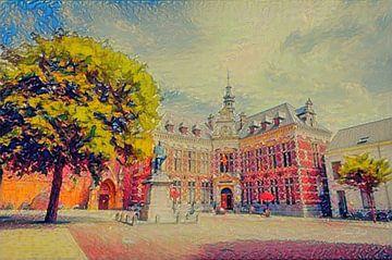 Impressionistisch Schilderij Utrecht Academiegebouw van Slimme Kunst.nl
