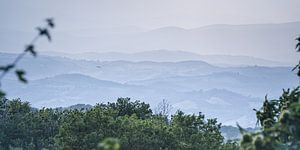 Weitblick auf die toskanischen Hügel von Arja Schrijver Fotografie