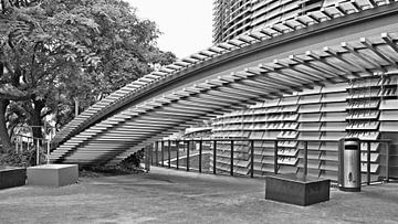Architectuur Barcelona, architecture photograph building sur Renata Jansen