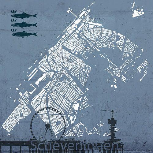Kaart van Scheveningen