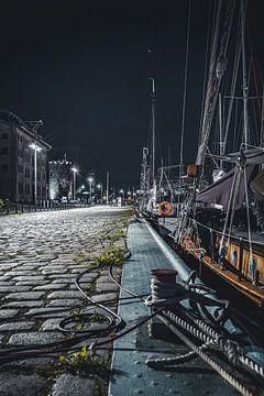 Hafenstraße (Nacht) von Sebastian Witt