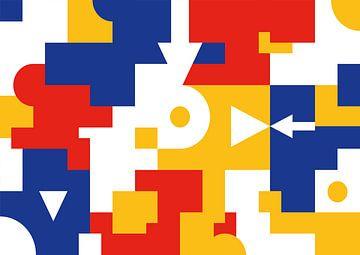 Bauhaus Geometrische Collage van Raymond Wijngaard