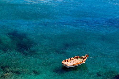 Bootje in Griekse wateren