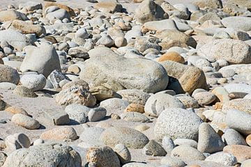 keien op strand in Spanje van Hanneke Luit