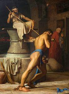 Samson und die Philister, Carl Bloch