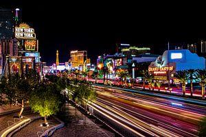 Las Vegas, Las Vegas Boulevard bei Nacht von Gert Hilbink