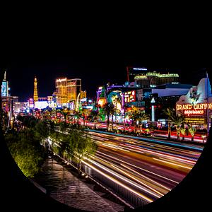 Las Vegas, Las Vegas Boulevard by Night van Gert Hilbink