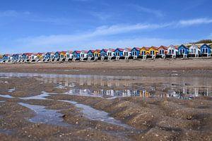 Strandhuisjes in Vlissingen van