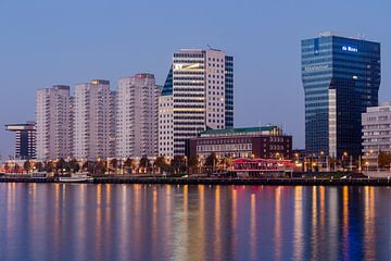 Skyline van Rotterdam van Peter Dane