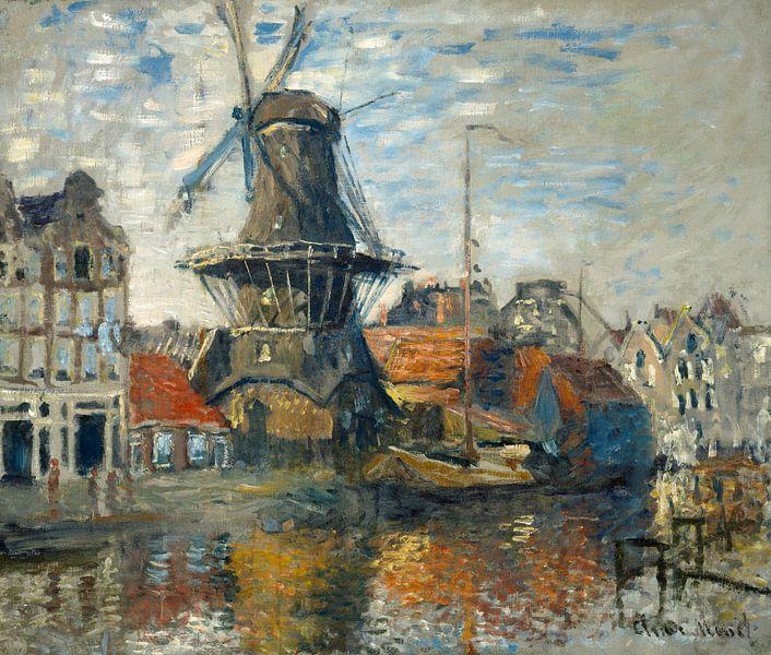 Claude Monet. De molen 'De Roozeboom' van 1000 Schilderijen