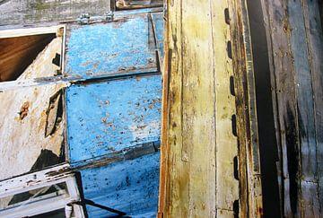 Detail oude vissersboot van Dick de Gelder
