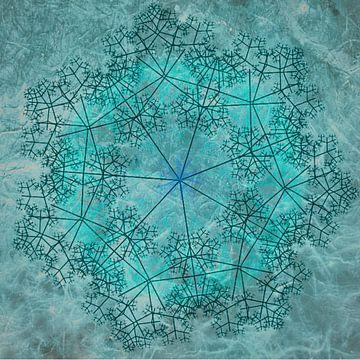 Mandala chique, turquoise van Rietje Bulthuis