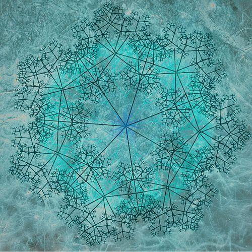 Mandala chique, turquoise