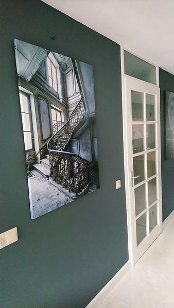 Kundenfoto: Magnificent Treppe in verlassenen Villa von Inge van den Brande