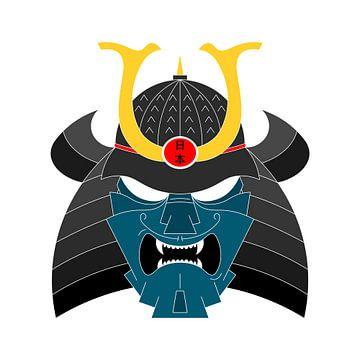 Japanischer Krieger (Samurai) von Marcel Kerdijk