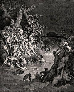 Überschwemmung zerstört die Welt - Gustave Doré, 1866