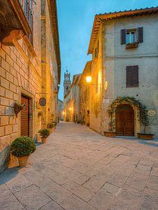 Matin à Pienza, en Toscane