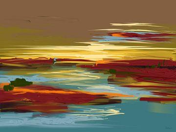 Landschap Rust Roest. van SydWyn Art