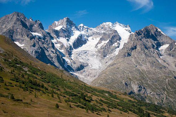 Landschap foto van de La Meije gletsjer in Frankrijk