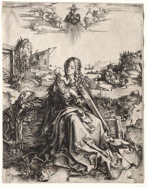 Die Heilige Familie mit dem Schmetterling, Albrecht Dürer von De Canon