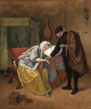 De zieke vrouw, Jan Havicksz. Steen