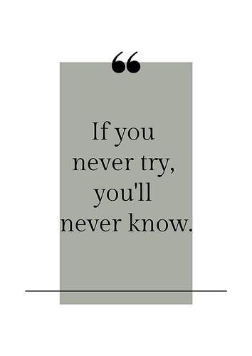 Poster 'Never try' in alle mogelijke kleuren!