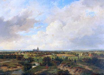 Landschaft mit Zug, andreas shellwood - um 1840 von Atelier Liesjes