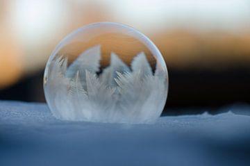 Winter - Bevroren zeepbel IV van Gerben van den Hazel