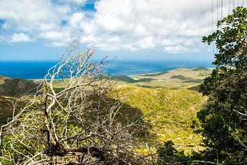 Uitzicht Christoffelberg Curacao van Joke Van Eeghem