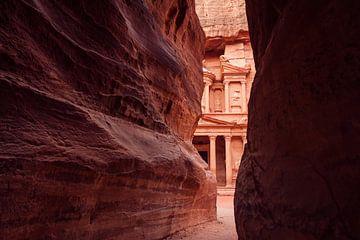 Felsen in Petra, Jordanien von