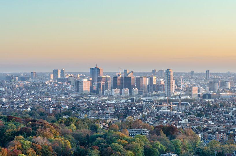 Skyline van Brussel van Mark Bolijn