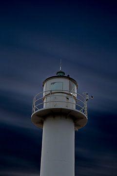 der Leuchtturm von Nieuwpoort entlang der belgischen Küste, Belgien von Fotografie Krist / Top Foto Vlaanderen