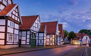 Vakwerkhuizen in Rheda-Wiedenbrück, Duitsland van Adelheid Smitt