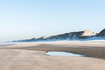 Bevroren strand (Wijk aan Zee) van