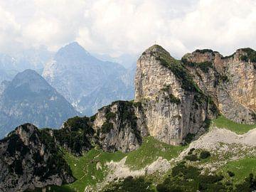 Berglandschap in de Oostenrijkse Alpen von Pieter Korstanje