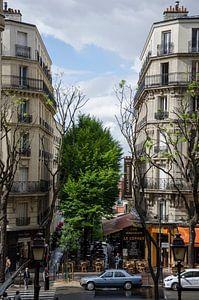Stadsbeeld Montmartre, Parijs van