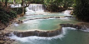 Waterval cascades in Laos van Ryan FKJ