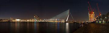Panorama van de skyline van Rotterdam  van Rene du Chatenier