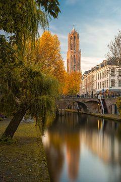 Utrecht - herbstliche Ruhe Oudegracht von Thomas van Galen
