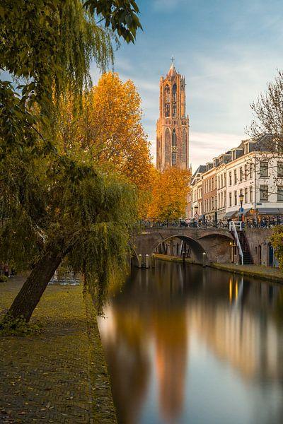 Utrecht - Herfstige rust Oudegracht van Thomas van Galen