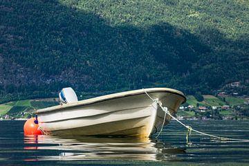 Boot am Storfjord von Rico Ködder