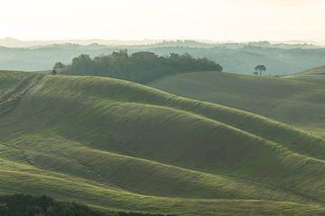 prachtige glooiende heuvels van Toscane van Besa Art
