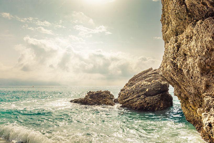 Licht over zee van Bernardine de Laat