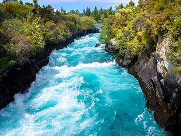 De wildwaterbaan van de Waikato rivier in Nieuw-Zeeland van Rik Pijnenburg