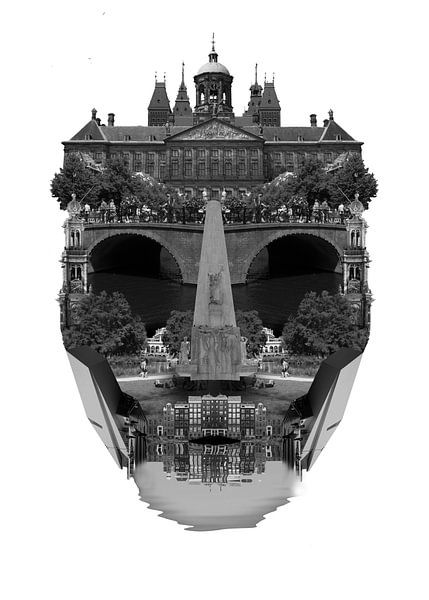 Amsterdam Stadtbild-Architektur - WEISS von CityCreatives