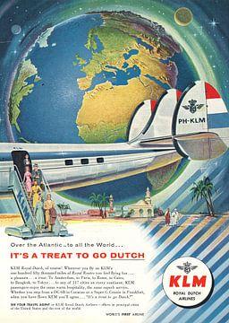 Vintage Werbung KLM 1956 von Jaap Ros
