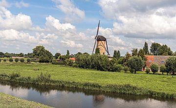Vue sur le village néerlandais de Terheijden