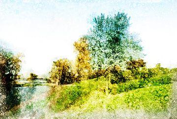 Niederländische Landschaft Den Bosch, die Niederlande von Peter Baak
