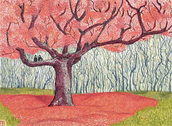 Red tree von Yvonne Jansen